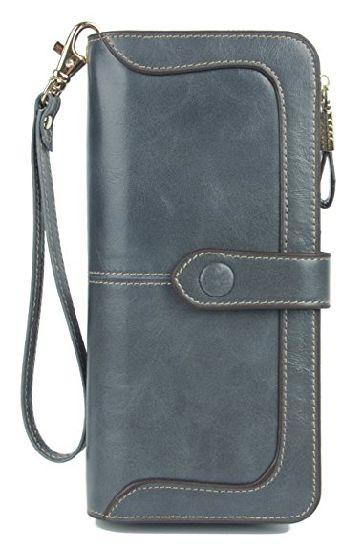 f4fe56587f ... Purse Wallet Women′s Compart Leather Wallet Ladies Purse with ID Window  Clutch Wallet Card